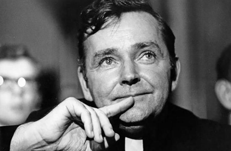 Black-and-white photo of Fr. Royden Davis, S.J.
