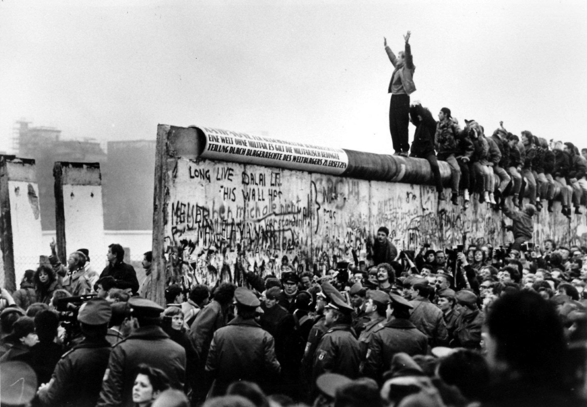 Photograph from fall of Berlin Wall