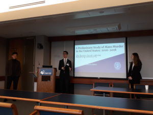 Burton, Lalevee, and Xu present at a research conference