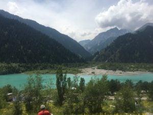 Lake Issyk in Almaty, Kazakhstan