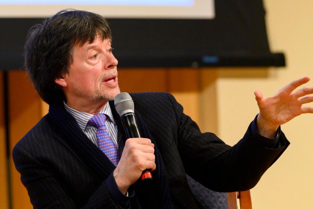 Ken Burns Speaks at Event