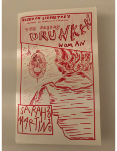 """Cover page for Sarah Martin's (C'21) comic book, """"The Dreamy Drunken Woman."""""""