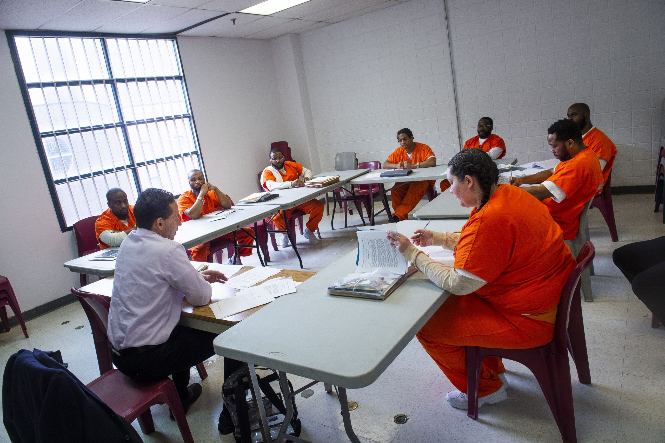 photo of prison an justice initiative classroom